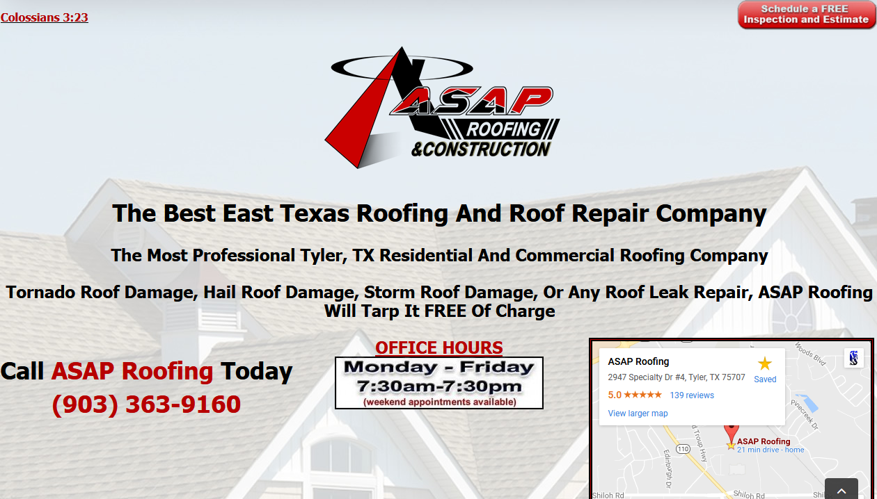East Texas Asap Roofing Offers A Complete Weather Report And Forecast On Our Website Www Tylerroofingasap Com Tyler Co Roof Leak Repair Roof Repair Roofing