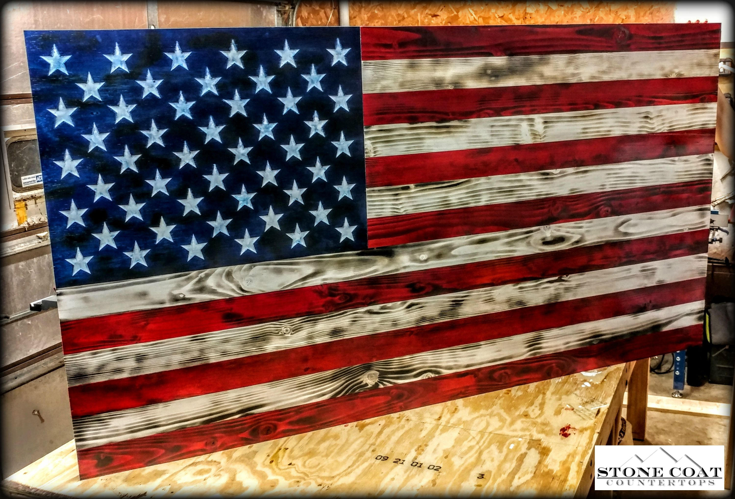 Check Out This Amazing Flag Partially Created With Stone Coat