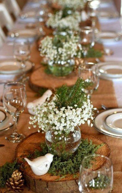 Photo of 23 idee idee tavola di nozze pigne invernali