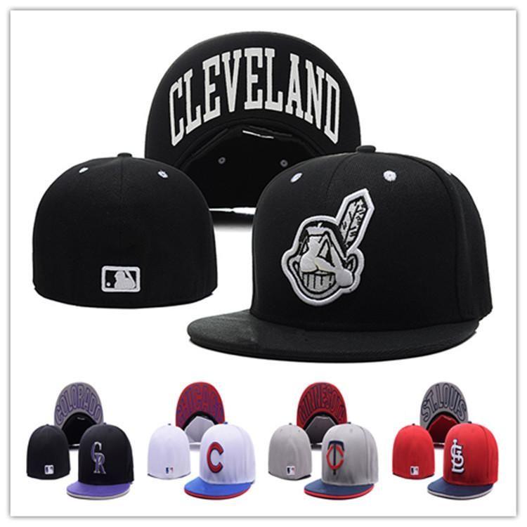 Wholesale Baseball Caps Series Full Closed Fitted Caps Baseball Cap Flat Brim Hat Size Cap Team Fans Cap Online Wholesale Baseball Caps Hats For Men Sport Hat