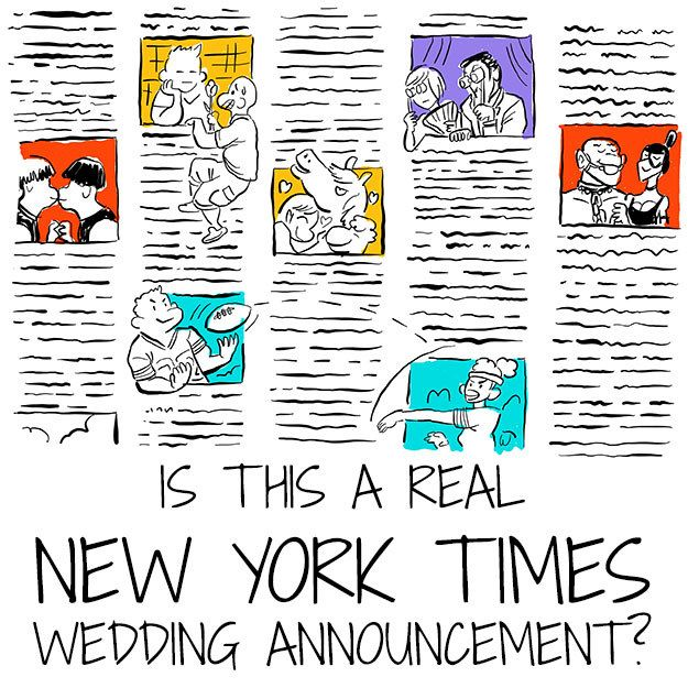 Is This A Real New York Times Wedding Announcement Wedding Announcements Announcement Wedding