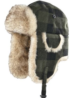 1ca110eddd8 Keep your head and ears warm during cold days with Cabela s Trapper Hat.  80 20 acrylic polyester faux-fur trim adds softness and comfort.