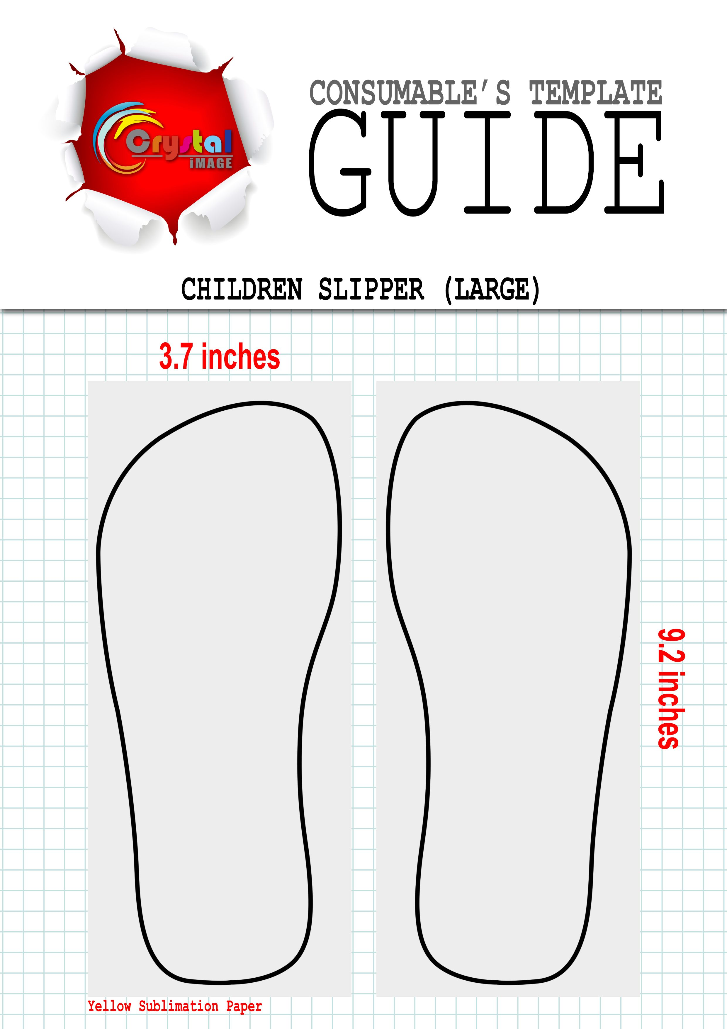 06d55fe5 Sublimation Children Slippers (Large) Template   Digital Printing ...