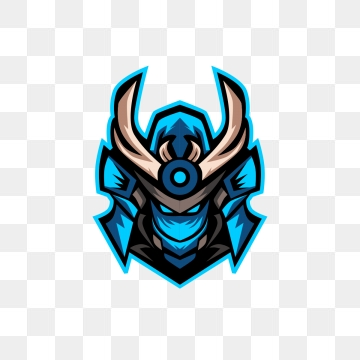 Blue Samurai Head Esports Logo Free Logo Design Template Illustration Vector Mascot Png And Vector With Transparent Background For Free Download Gambar Serigala Logo Keren Desain Logo