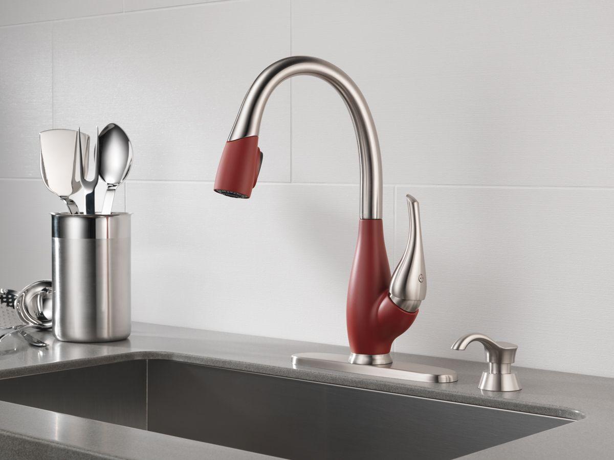 Delta Chili Pepper red kitchen faucet (deltafaucet.ca ...