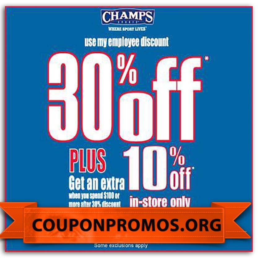 graphic regarding Champs Printable Coupons identified as cost-free printable champs low cost coupon for August September