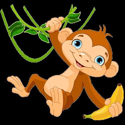 Monkeys Cartoon Clip Art | Cakes - Prints Animals | Pinterest ...