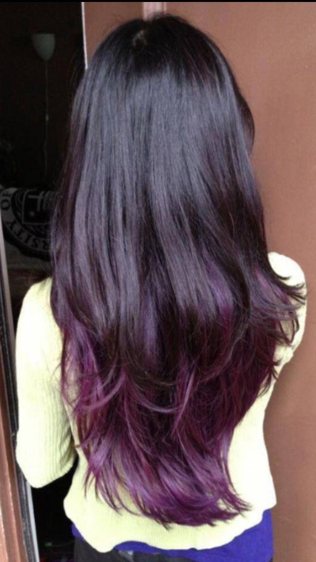 Dark Brown Hair With Purple Undertones - 485.9KB