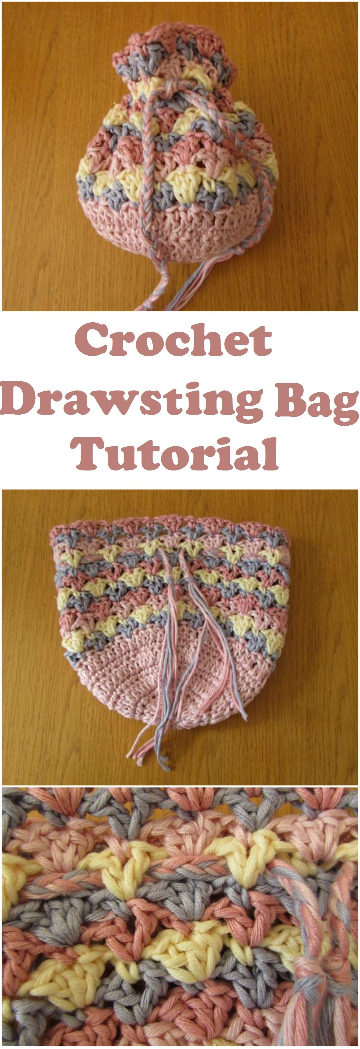 Crochet-Drawstring-Bag | Crochet Bags Totes & Purses | Pinterest ...