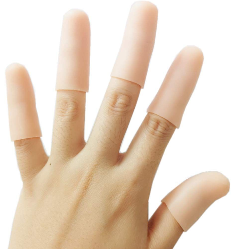 Finger Cot Gel Finger Protector Finger Brace Support Finger Gloves Waterproof Finger Eczema Bandages For In 2020 Arthritis In Fingers Eczema Triggers Medical Supplies
