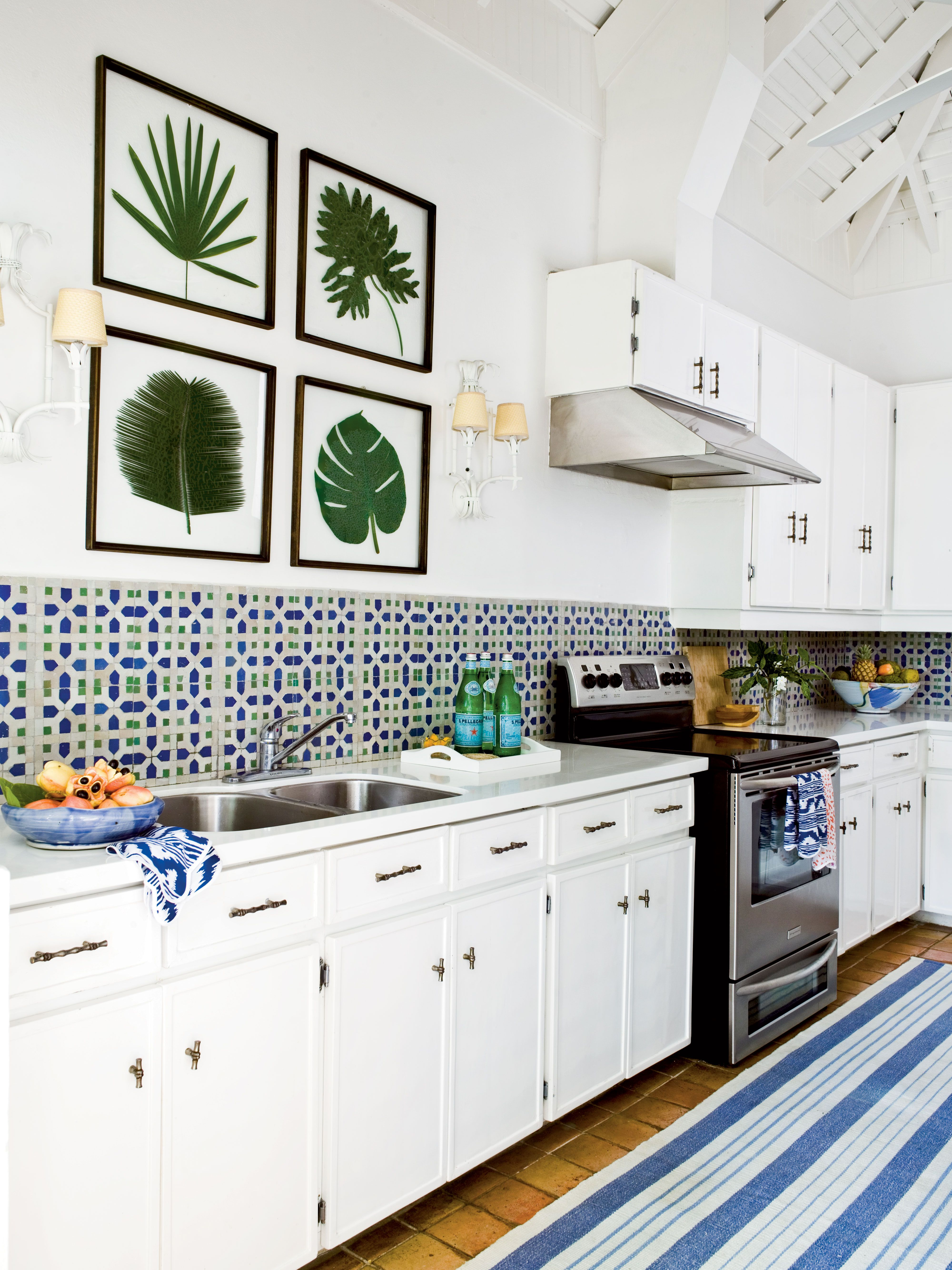 Mosaic tiles are a staple of island style. Bump up the Jamaican vibe ...
