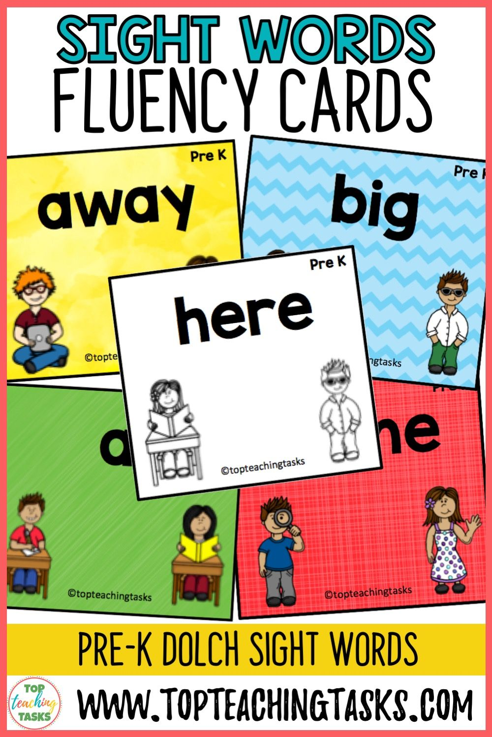 PreK Sight Word Flash Cards Dolch Sight word flashcards