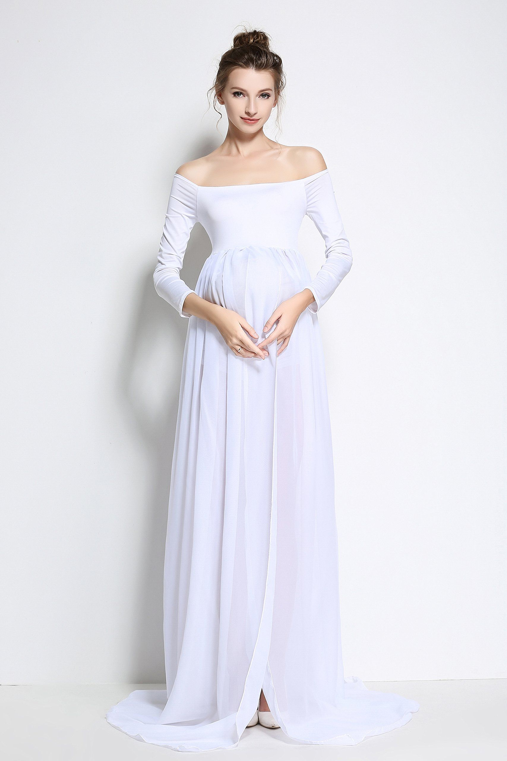 bdace079d3 Maternity Styles - modest maternity maxi dress   Vincendarr Womens Lace  Long Maternity Dress for Photography Beach Maxi Dresses XL White --  Discover more ...