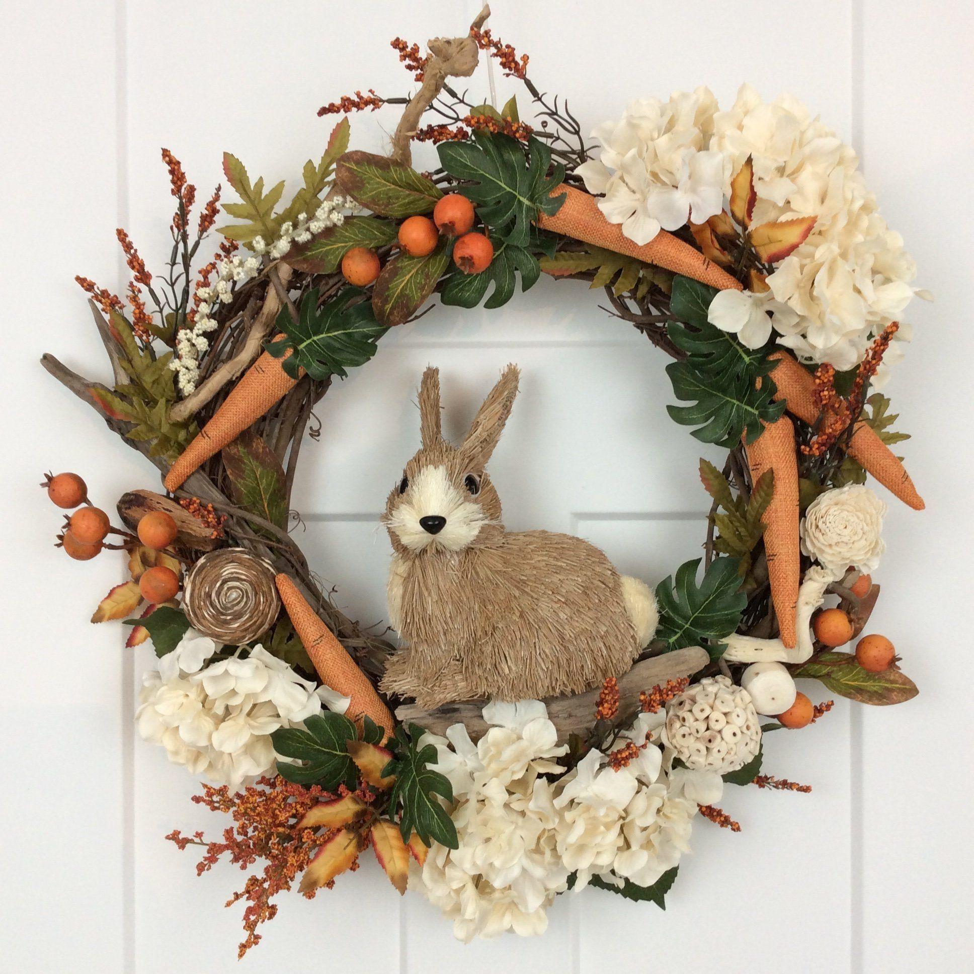 Photo of Wildlife Wreath, 25 Inch, Nature, Rabbit Wreath, Bunny Wreath, Easter Wreath, Easter Bunny, Grapevine Wreath, Spring Wreath, Made In Canada