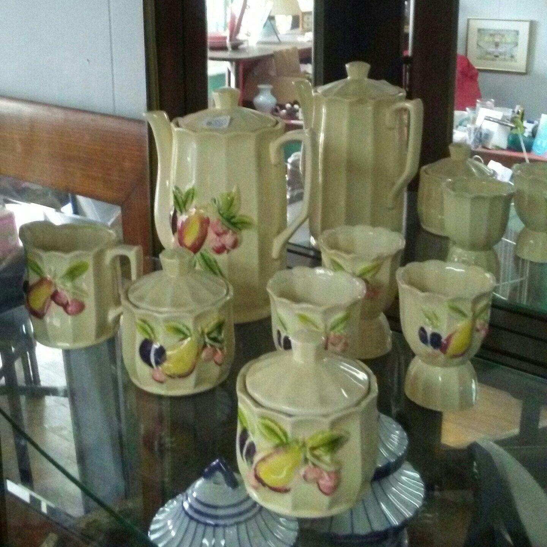 Vintage ceramic tea set for sale at Frugal Fortune in our