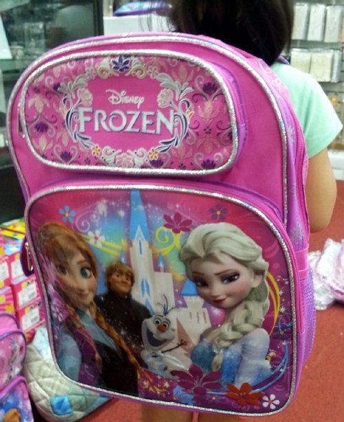 Frozen Elsa Backpack/ Frozen Anna & Elsa Backpack School by mustit, $25.00