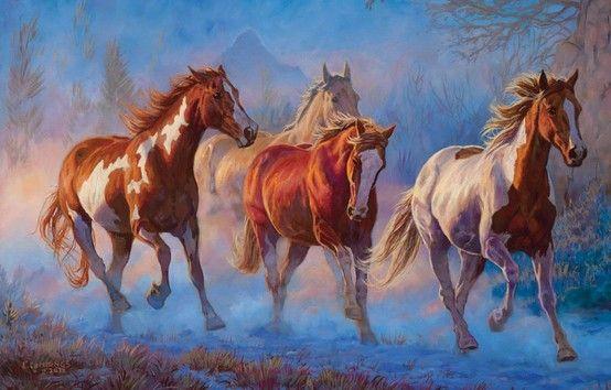 Chris Cummings Horses Horse Oil Painting Horse Art
