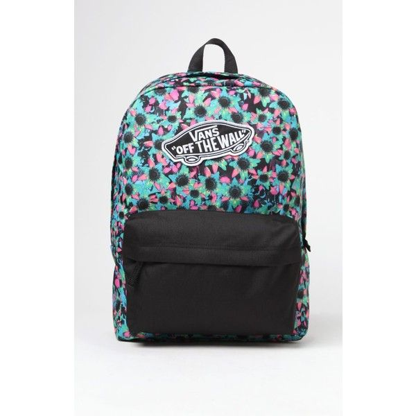 Vans Realm Floral Print School Backpack ( 35) ❤ liked on Polyvore featuring  bags 71f6c178d257a