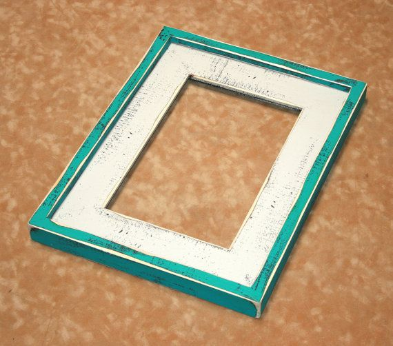 Bright Colored Picture Frame 16x16 Or 16x20 By 2dogswoodworking Picture Frames Picture Frame Colors Rustic Picture Frames