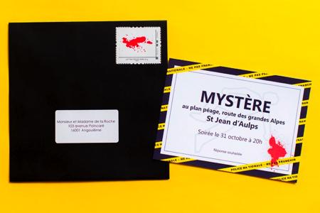 """Hervorragend Invitation """"Soirée mystère"""" (murder party) : idée originale pour  EQ52"""