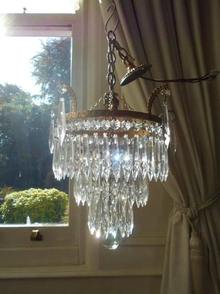 French vintage 3 tier waterfall chandelier chandeliers pinterest french vintage 3 tier waterfall chandelier aloadofball Images