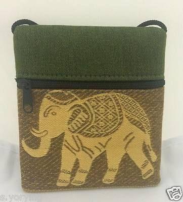 1 PC.THAI STYLE ELEPHANT PURSE WALLET FABRIC SHOULDER BAG GIFT ZIPPER COIN CUTE