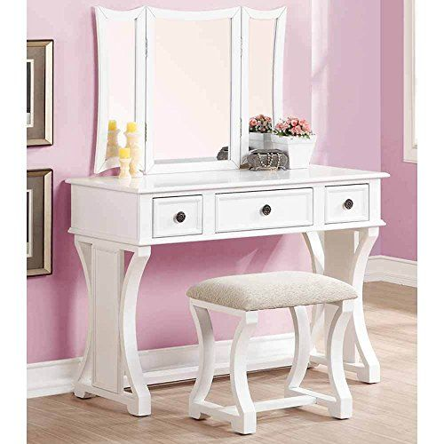 1perfectchoice tri folding mirror curved lines vanity makeup table rh pinterest com
