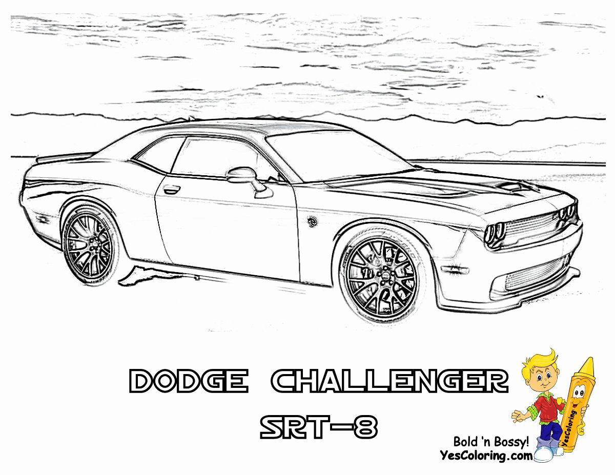 Printable Car Coloring Pages Beautiful Ice Cool Car Coloring Pages Cars Dodge Free Dodge Challenger Cars Coloring Pages Dodge