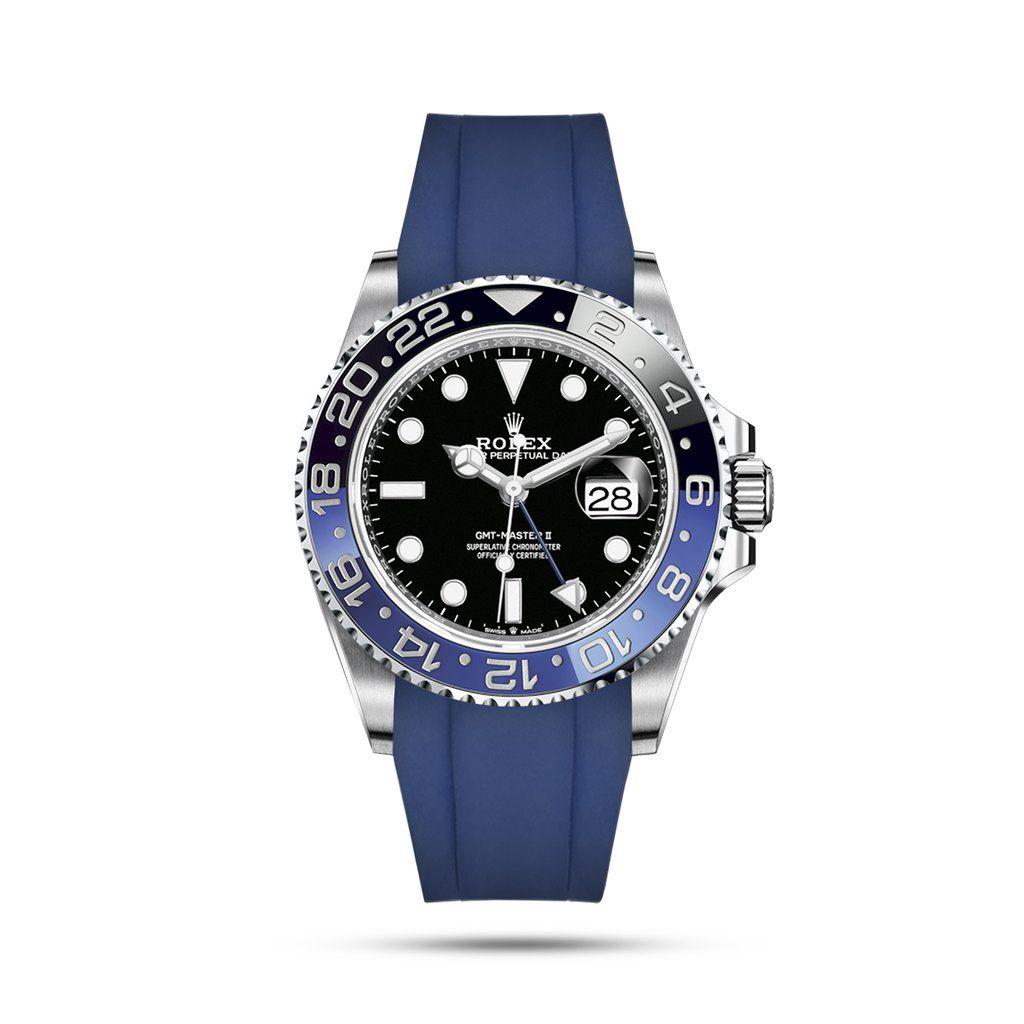 Integrated Rubber Strap For Gmt Master Ii Blue Rolex Rolex Gmt Custom Rolex