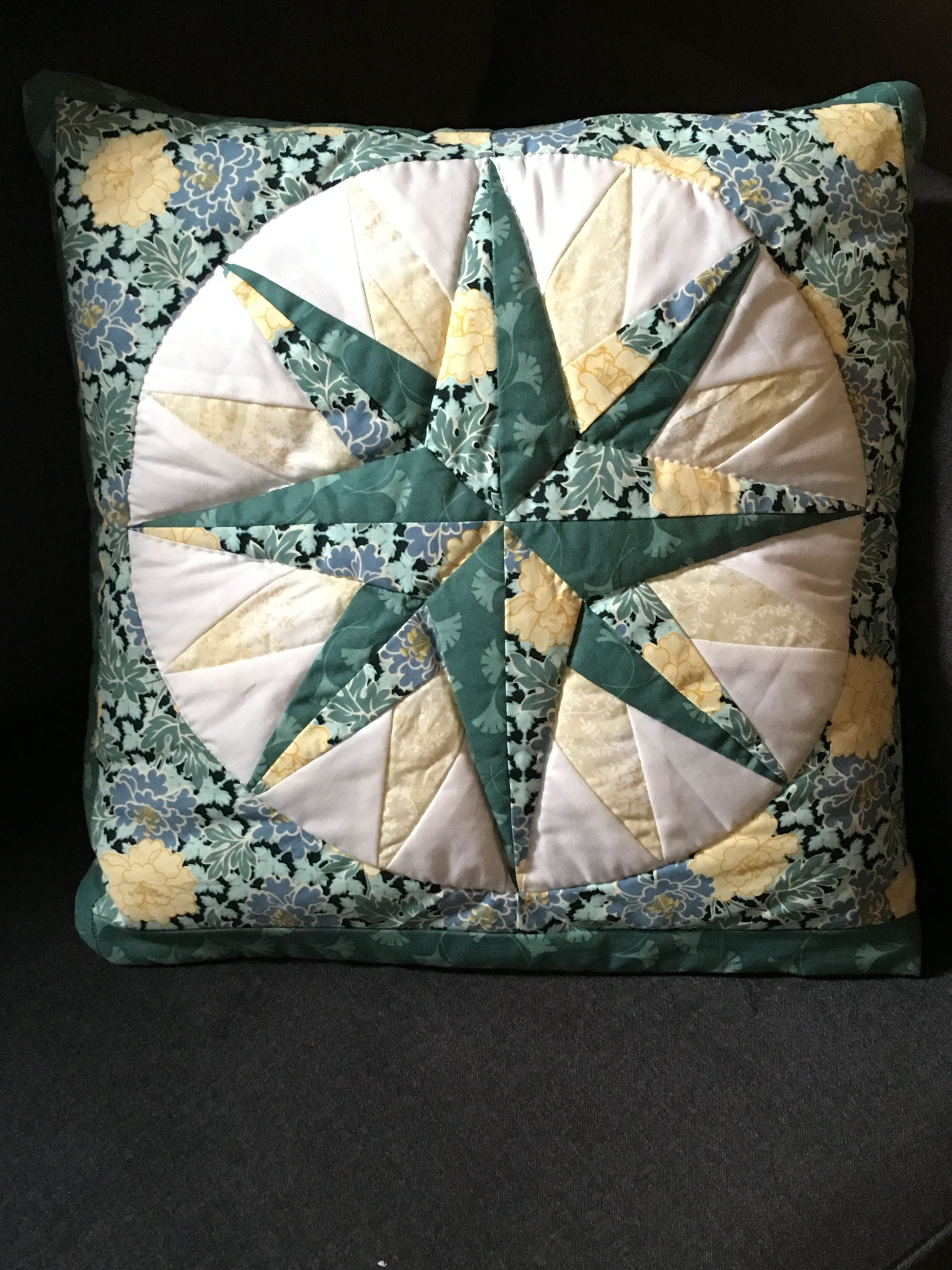 This Is A Purchased Quillow That Is A Lap Quilt Which Folds Up To