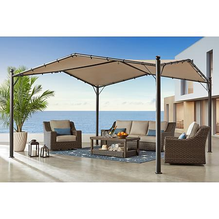 Member S Mark 13 X 13 Butterfly Gazebo Pavilion Sam S Club In 2020 Gazebo Outdoor Outdoor Structures