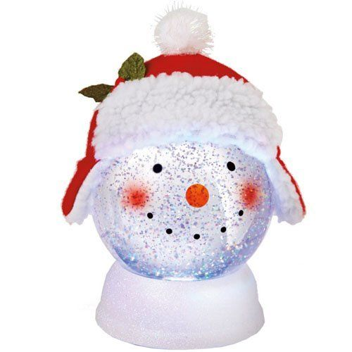 Shimmer Snowman Acrylic Snow Globe Decoration Size 8 In