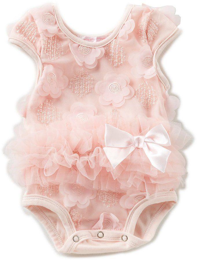 79192ec4c Popatu Baby Girls 3-9 Months Floral-Embroidered Tutu Bodysuit | Baby ...