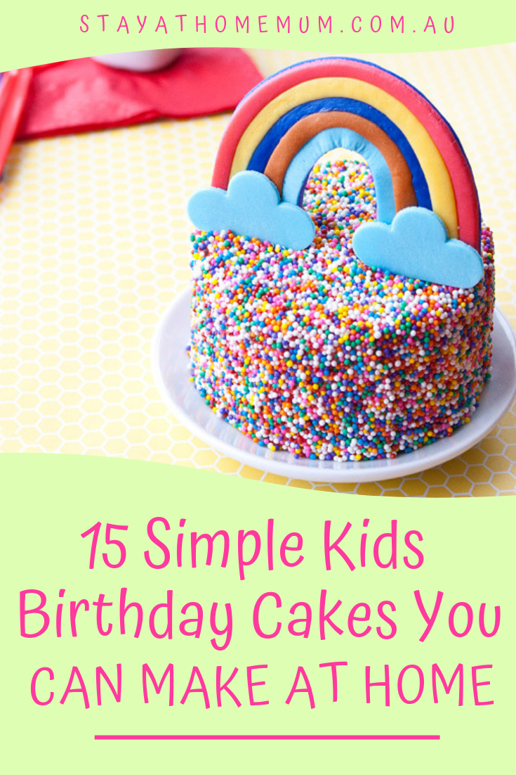 Magnificent 15 Simple Kids Birthday Cakes You Can Make At Home 15 Super Easy Birthday Cards Printable Giouspongecafe Filternl