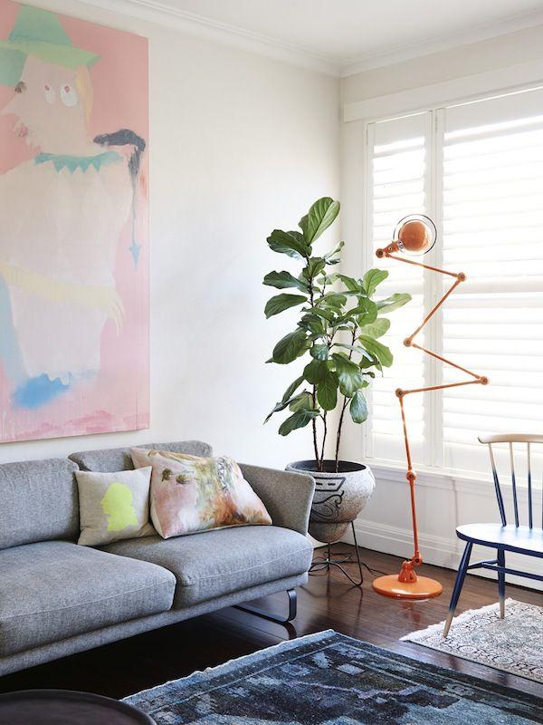 woonkamer-grote-plant   Plants   Pinterest - Interieur, Huis kleuren ...