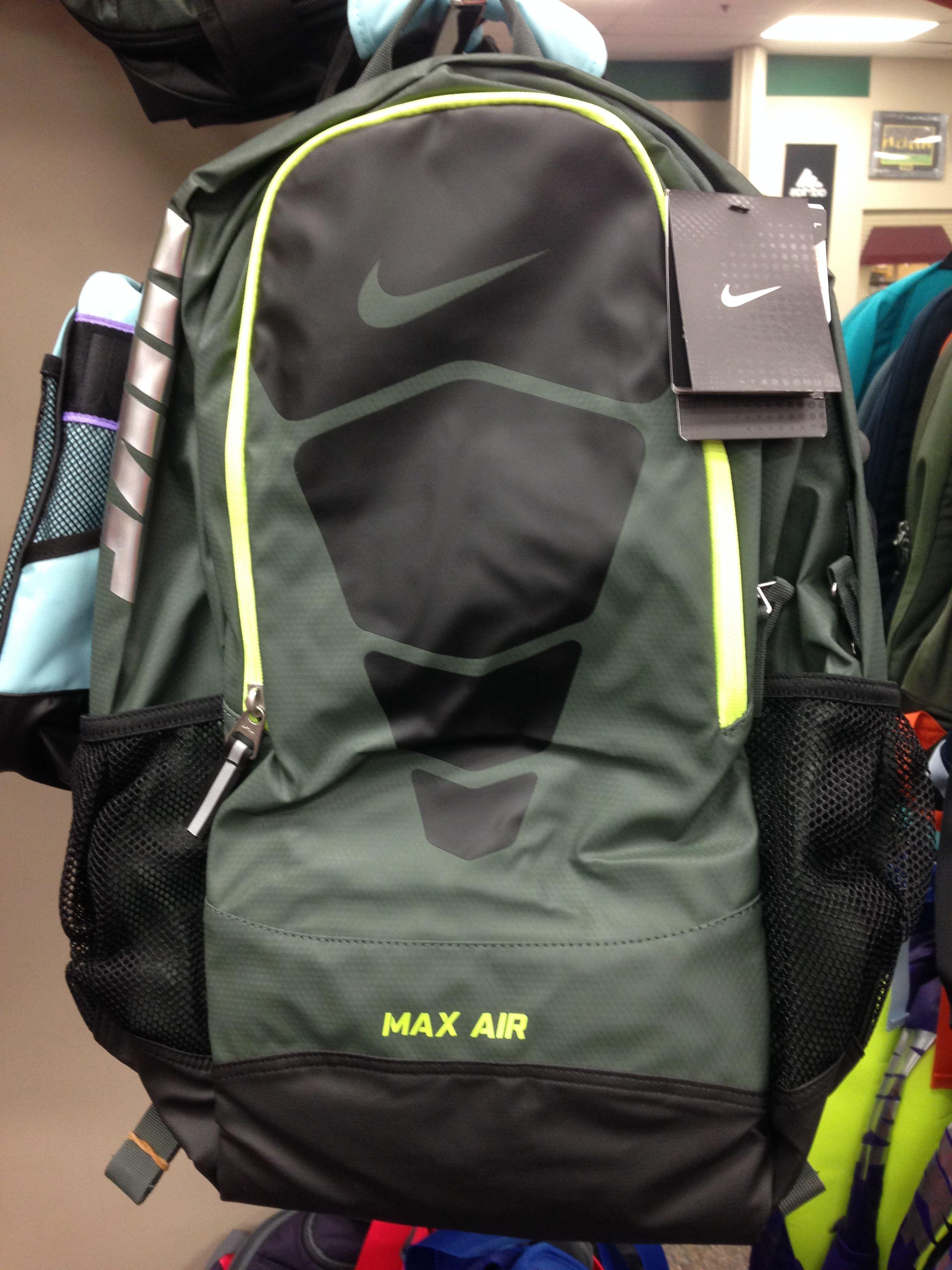 Black   Green Nike Max Air Backpack  85999b08abb38