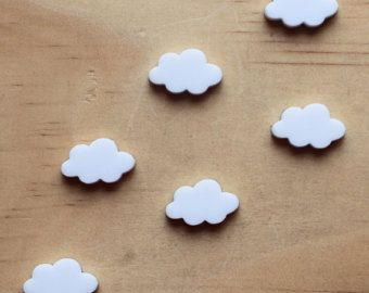 6 White Clouds, lasercut acrylic