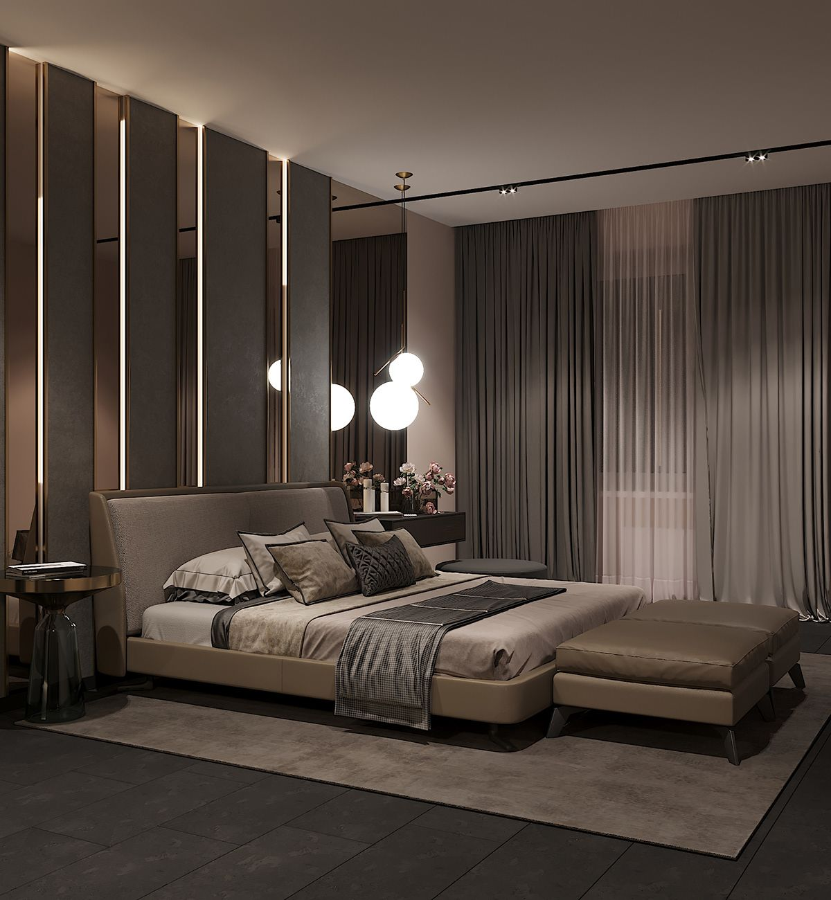 Bedroom In Contemporary Style On Behance: Https://www.behance.net/gallery/72805713/Bedroom-in