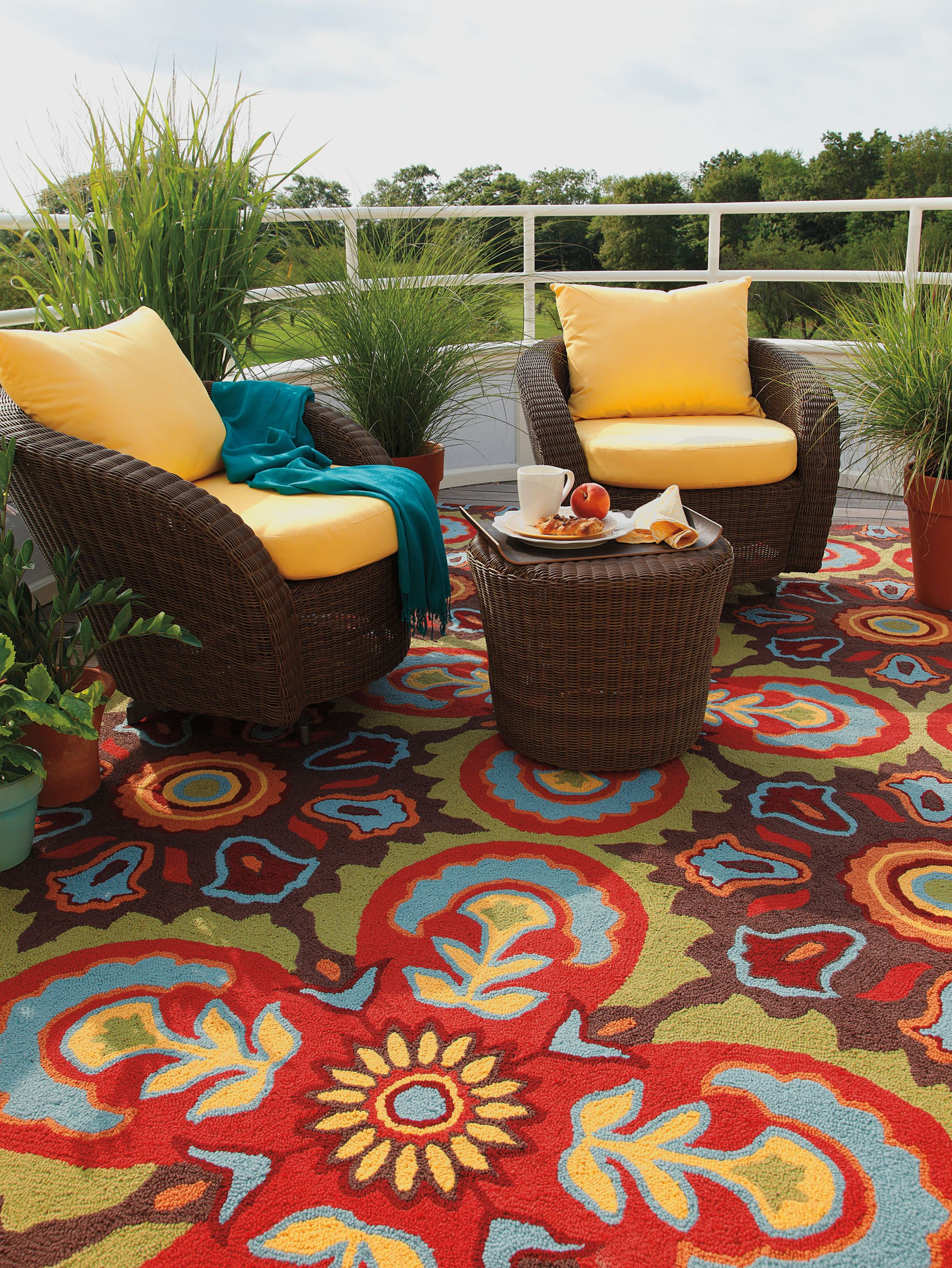 How Stunning Is Company C S Talevera Tile Indoor Outdoor Rug Inspired By