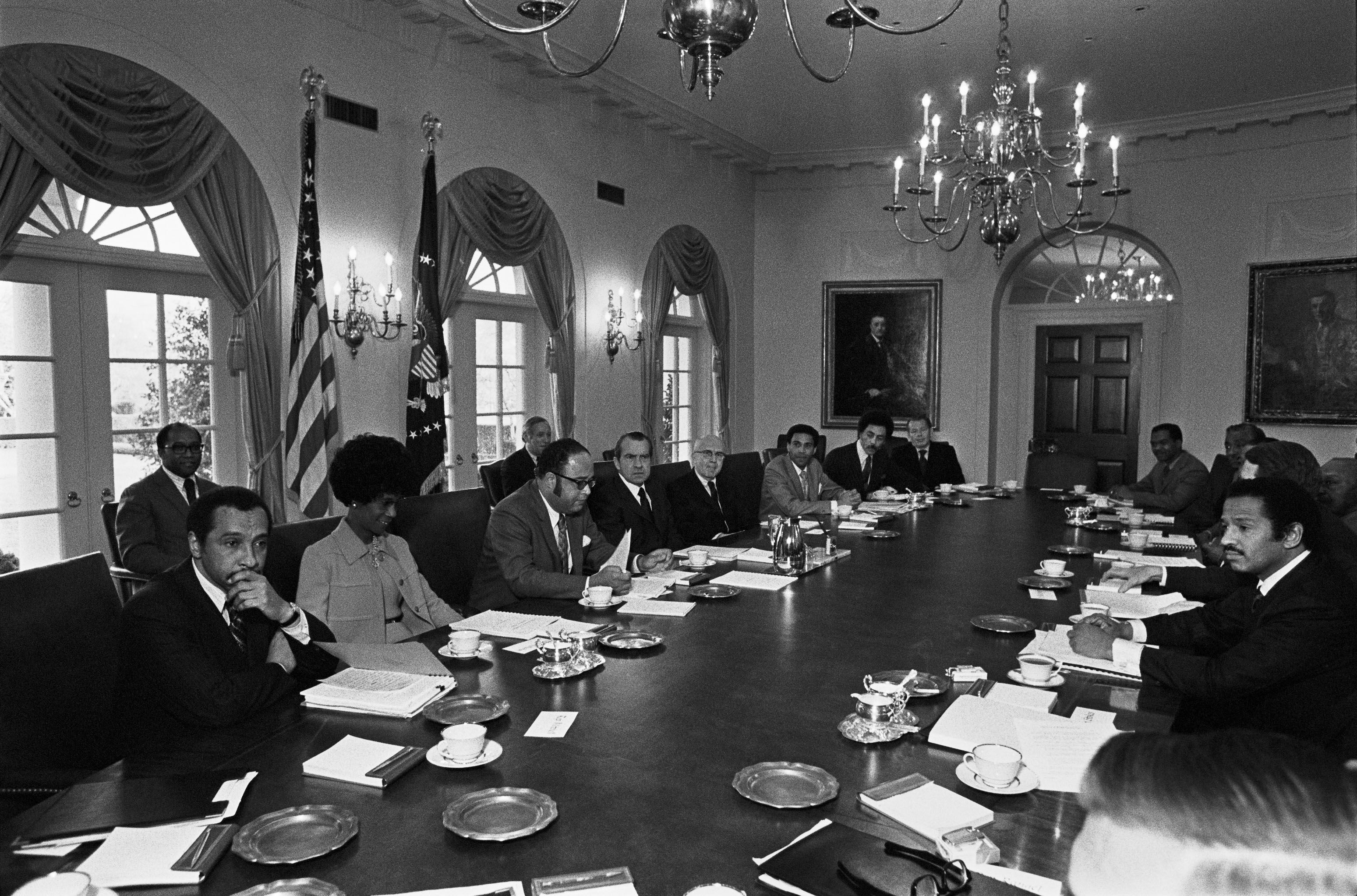President Nixon meets with members of the Congressional Black ...