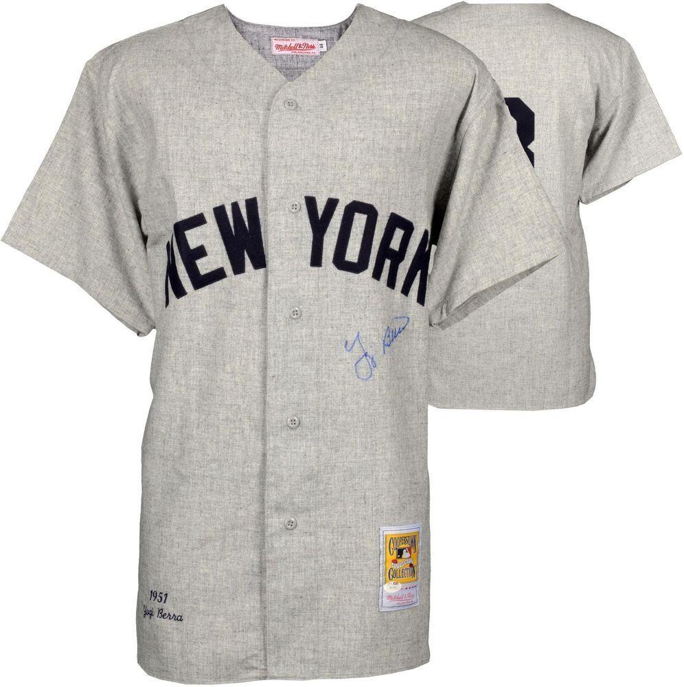 best sneakers 64ea9 48aca MLB Nike New York Yankees #8 Yogi Berra Gray RBI Pullover ...