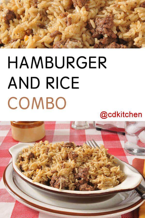 Hamburger And Rice Combo Recipe | CDKitchen.com