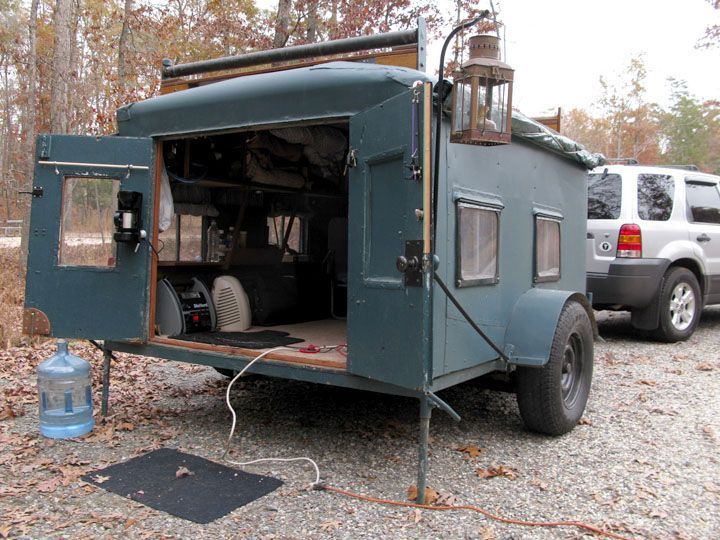 Homemade diy camper trailer made from recycled stuff diy for How to build a motorhome plans