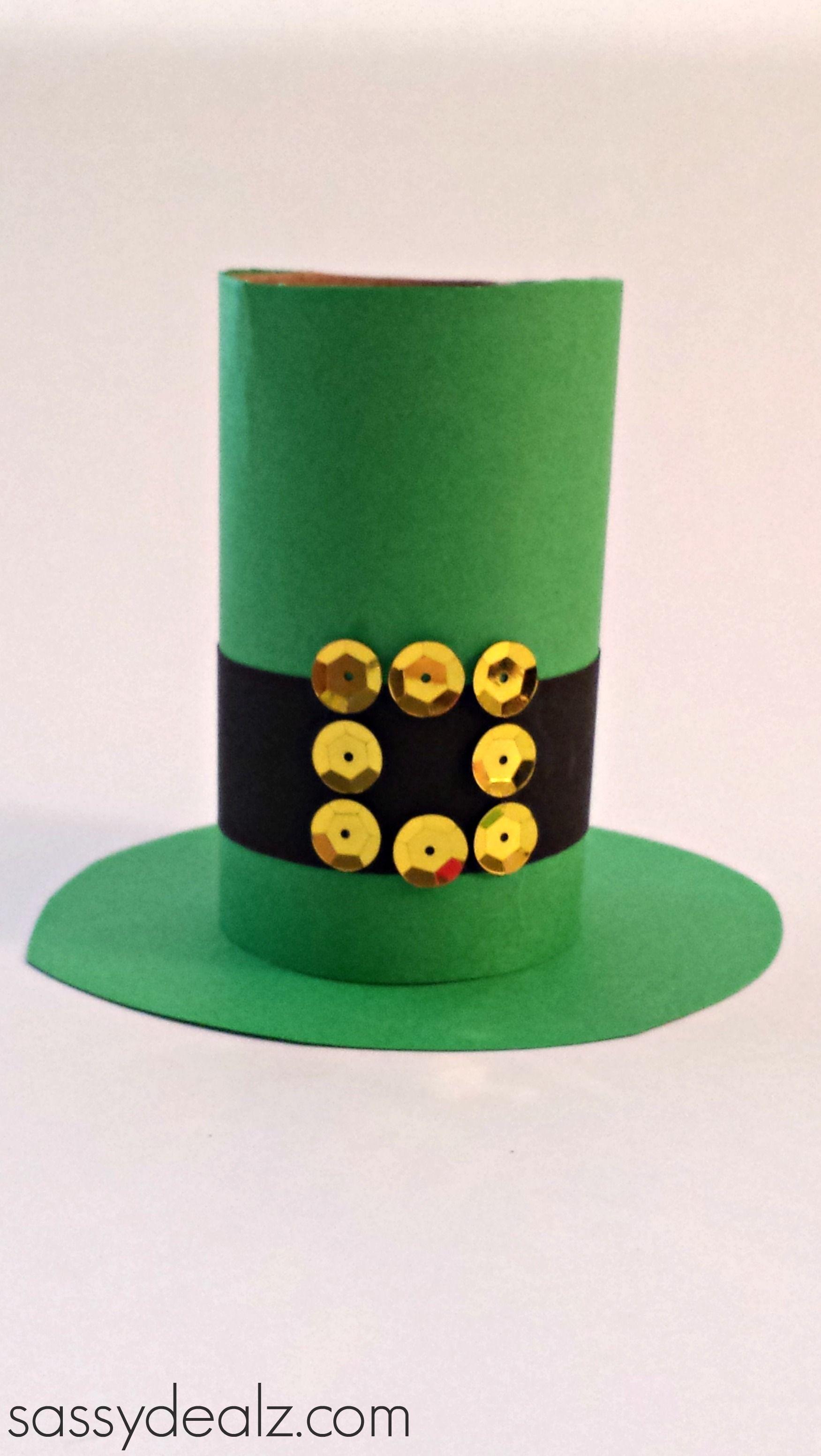 leprechaun hat toilet paper roll craft for st patrick u0027s day