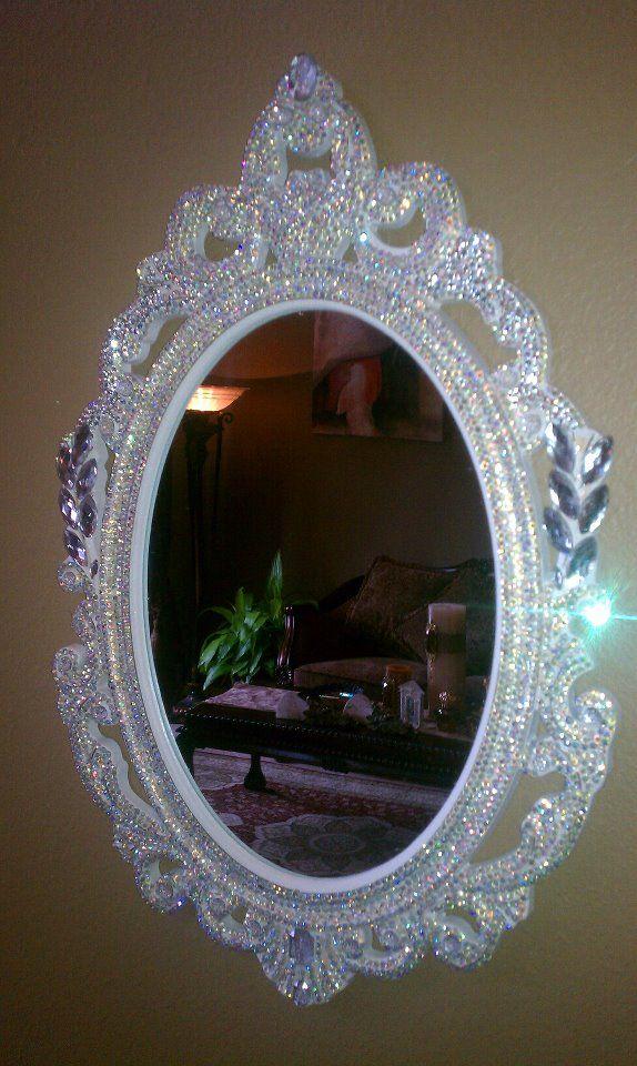 Diy Mirror Frame Rhinestones