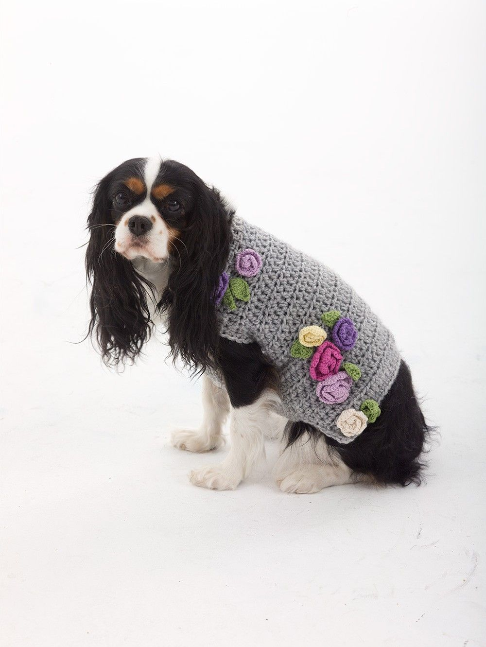 The Lady Who Lunches Dog Sweater Pattern (Crochet) - Lion Brand Yarn ...