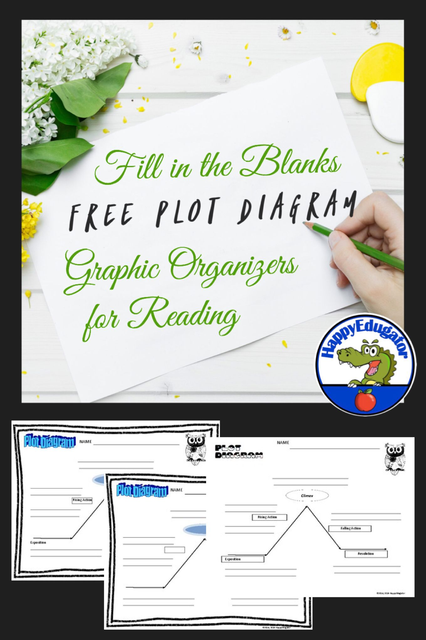 Plot Diagram Blank Graphic Organizer Of Story Elements