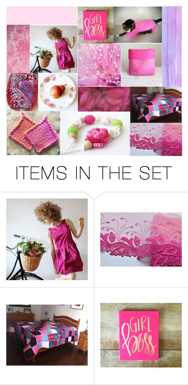 """Finds in Fuchsia"" by crystalglowdesign ❤ liked on Polyvore featuring art"