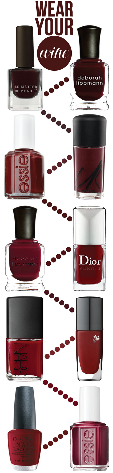 wear your wine: 10 nail shades for fall first row: Le Métier de ...