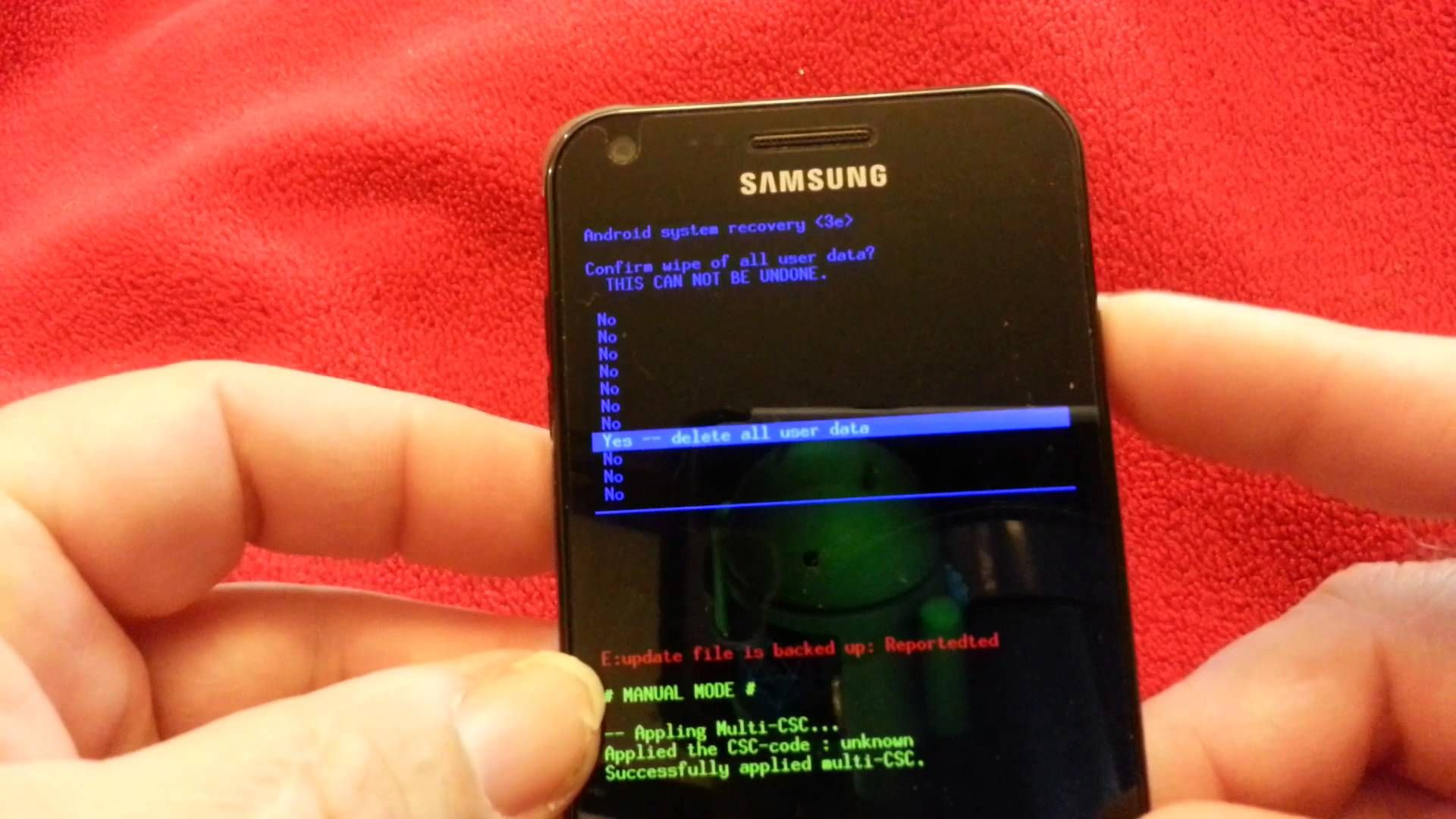 SAMSUNG GALAXY S2 FACTORY RESET This really works, I did it. It saved my phone.